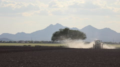 4K Dust Dirt Tractor Plows Farm Field Time Lapse ED Stock Footage
