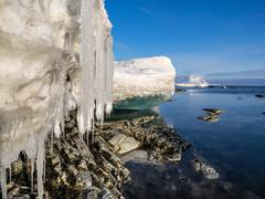 Spring in the Arctic - Spitsbergen, Svalbard - stock photo