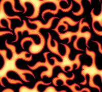 Seamless flame pattern in vector Stock Illustration
