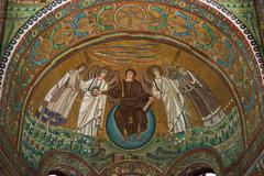 Mosaic in San Vitale - stock photo