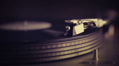 Record on Turntable with Needle - Filter Effect Stock Footage