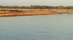 LUANGWA RIVER, SOUTH LUANGWA NATIONAL PARK, ZAMBIA - CIRCA MAY, 2009 Stock Footage