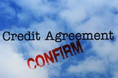 Stock Illustration of Credit agreement - confirm