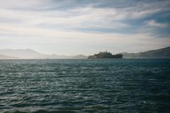 Stock Photo of View of Alcatraz Island, in San Francisco, California.