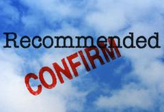 Recommended confirm - stock illustration