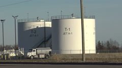 Jet Fuel Tanks Stock Footage