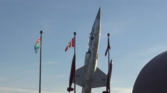Display of a Canadian warplane from the Second World War - stock footage