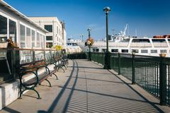 Walkway at the Embarcadero, in San Francisco, California. Stock Photos