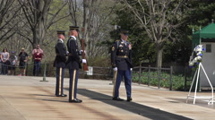 Arlington National Cemetery Change Guard of Honor 4K Stock Footage