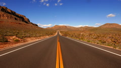 The feel of freedom on a lonesome road through the USA - stock footage