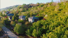 Village and green nature Stock Footage