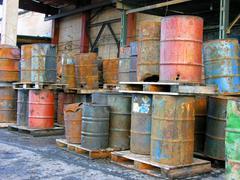 Oil trashcan - stock photo