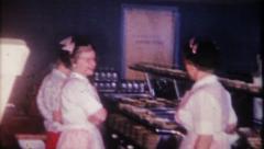 2000 - waitresses working large hotel dinner - vintage film home movie Arkistovideo