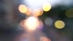 Moving light bokeh background - stock footage