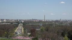 Washington DC city from Arlington National Cemetery airplane landing 4K Stock Footage