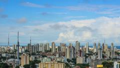 Timelapse View of Salvador Cityscape, Bahia, Brazil Stock Footage