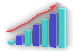 Graph Bar Increase Stock Illustration