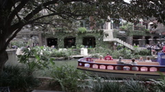 Tourist River Walk Boat San Antonio Texas Stock Footage