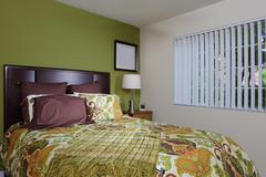 Stylish bedroom - stock photo