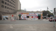 Austin Texas Art Mural Stock Footage
