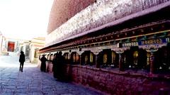 Tibetan Monastery Prayer Wheels No.5 HDR Stock Footage