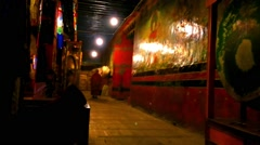 Tibetan Monks in a Monastery No.6 Stock Footage