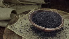 Black Sesame (not loopable) Stock Footage