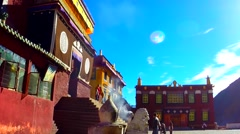 Tsurpu Monastery and Monks in Tibet No.1 Stock Footage