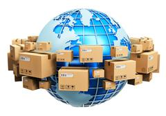 Global shipping concept Stock Illustration
