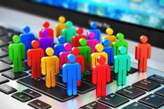 Social media marketing business concept Stock Illustration