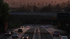Evening Traffic on Highway 110 Stock Footage