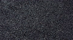 Rotating Black Sesame (not loopable) Stock Footage