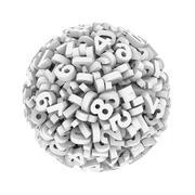 3d digit number sphere ball - stock illustration