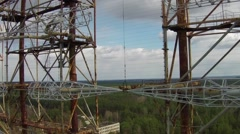 Stock Video Footage of Chernobyl-2 - Soviet over-the-horizon radar system. Exclusive aerial footage