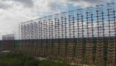 Chernobyl-2 - Soviet over-the-horizon radar system. Exclusive aerial footage Stock Footage