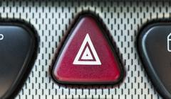 Hazard button on a car Stock Photos