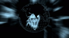 The earth and the light bulb - stock footage