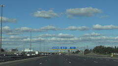 Driving east along Highway 401, Toronto Stock Footage