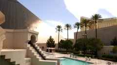 The Luxor Hotel and Mandalay Bay Las Vegas - stock footage
