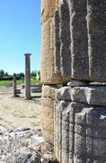 close antique column - stock photo