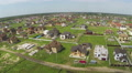 Cottage town, village panorama. Aerial, Ukraine Footage