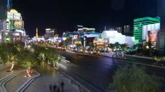 Time lapse shot of Las Vegas Blvd timelapse Vegas Stock Footage