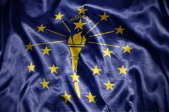 shining  indiana state flag - stock photo