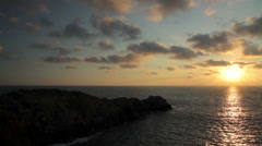 FULL SHOT. Amazing sunset in the Oaxaca coast. Stock Footage
