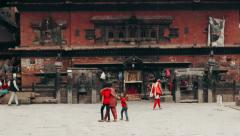 The Bhairavnath Temple in Bhaktapur, Nepal Stock Footage