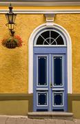 Tallinn color front door - stock photo