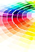 Color guide. - stock photo