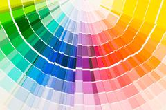 Color guide samples pantone close-up Stock Photos