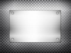 Black metal grid square plate 2 Stock Illustration