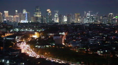 The nights of Jakarta Stock Footage